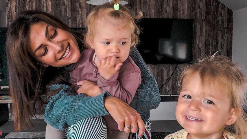 Inci Sencer mit ihren beiden Töchtern im Mai 2020 in Baden-Württemberg