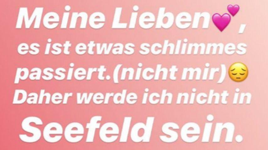 Instagram-Story von Chethrin Schulze