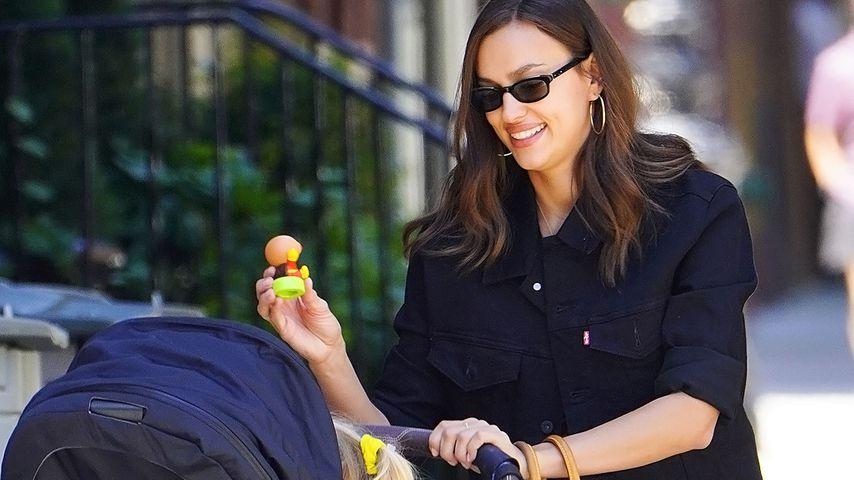 Irina Shayk mit Kinderwagen in New York