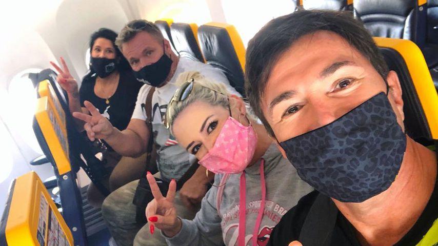 Iris und Peter Klein mit Daniela Katzenberger und Lucas Cordalis