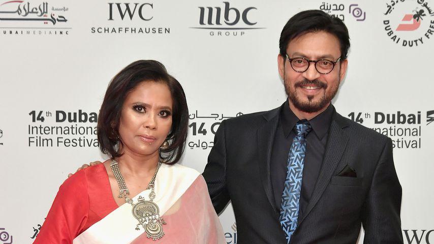Irrfan Khan und seine Frau Sutapa Sikdar beim Dubai International Film Festival