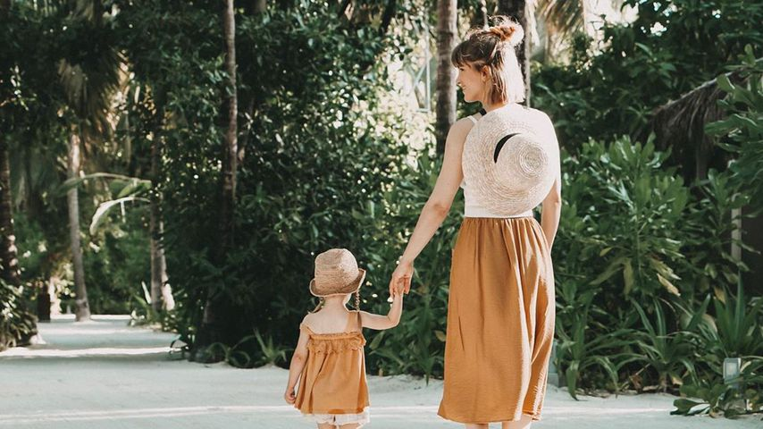 Isabell Horn und Tochter Ella, Dezember 2019