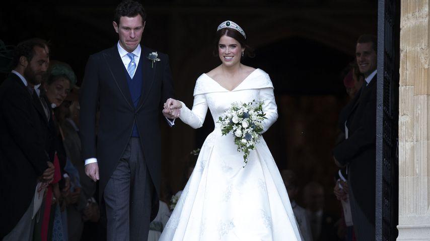 Jack Brooksbank und Prinzessin Eugenie bei ihrer Hochzeit, Oktober 2018