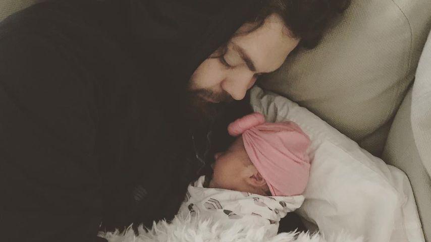 Jack Osbourne mit seiner Tochter Minnie Theodora