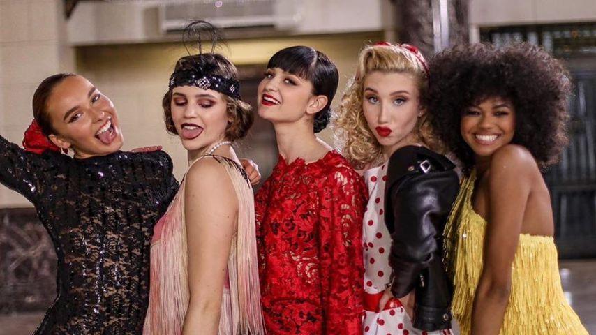 Jacky, Maribel, Anastasia, Tamara und Maureen von GNTM 2020