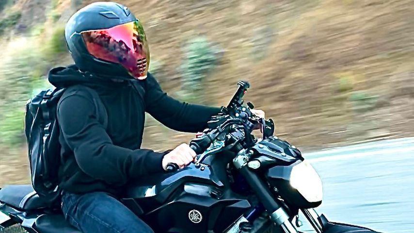 Jake Adams auf seinem Motorrad