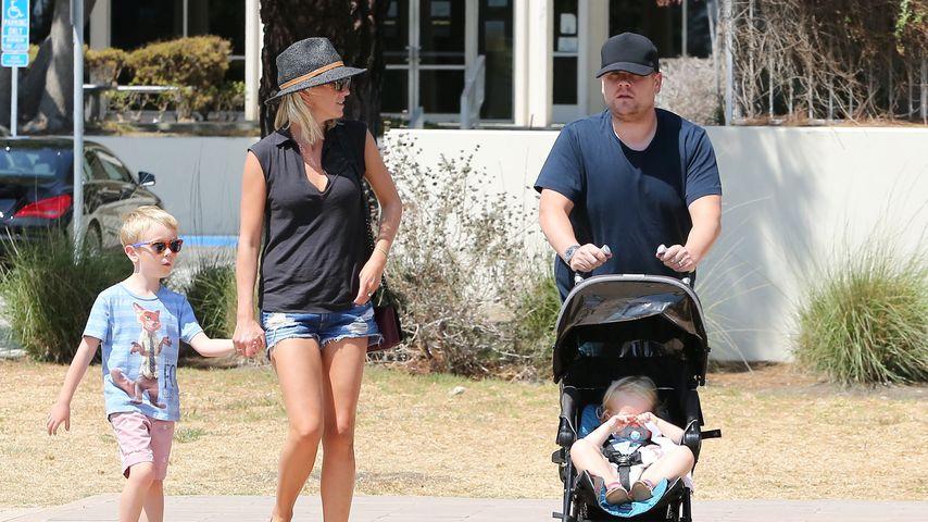 Fürsorglicher Vater: James Corden mit seinen süßen Kids