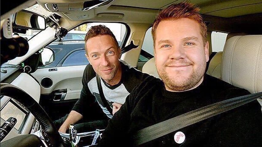 "Chris Martin und James Corden beim ""Carpool Karaoke"""