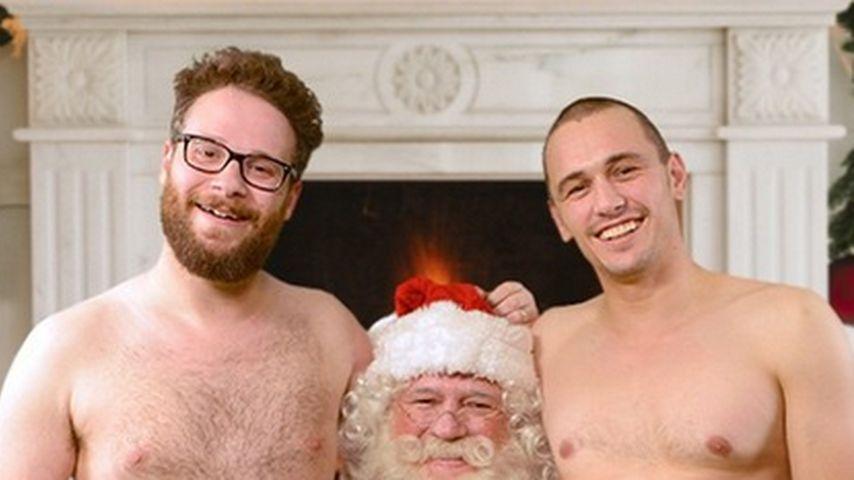Seth Rogen und James Franco beim Weihnachtsmann