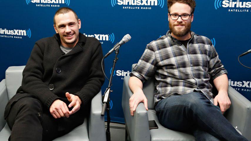 James Franco und Seth Rogen im SiriusXM's-Radiostudio in NYC im Dezember 2014