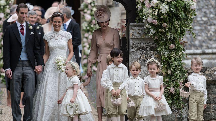 James Matthews, Pippa Middleton und Herzogin Kate bei Pippas Hochzeit