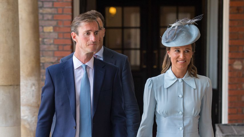 James Matthews und Pippa Middleton auf Prinz Louis' Taufe