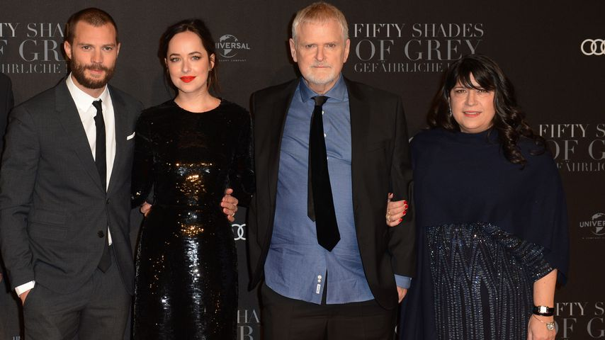 Jamie Dornan, Dakota Johnson, James Foley und E. L. James