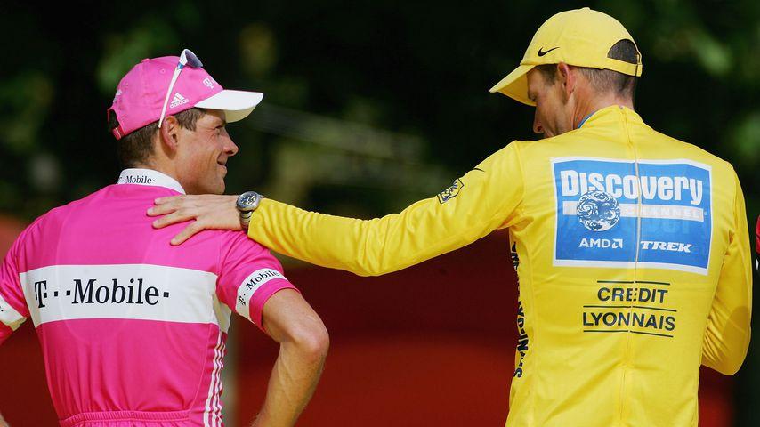 Jan Ullrich und Lance Armstrong in Frankreich 2005