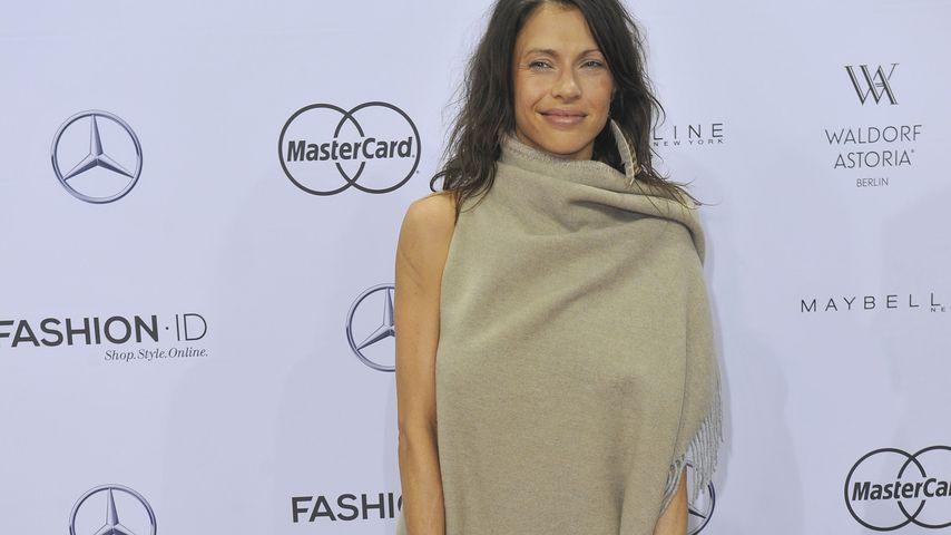 Jana Pallaske bei der Mercedes Benz Fashion Week Berlin
