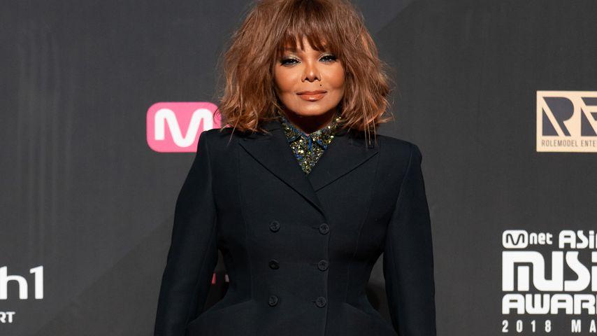 Sängerin Janet Jackson bei einer Award-Show in Hongkong