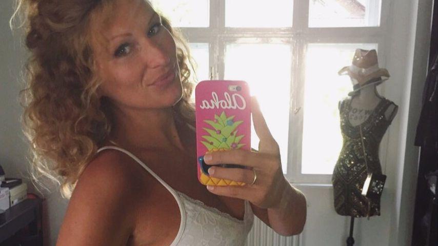 Janni Hönscheid kurz vor der Geburt ihres ersten Kindes