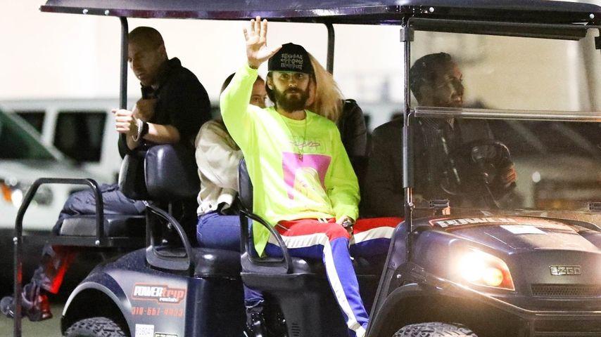 Jared Leto auf dem Weg zu Post Malones Konzert in Inglewood