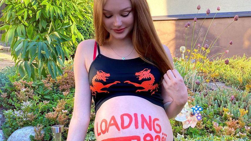 Jasi_xx3 während ihrer ersten Schwangerschaft