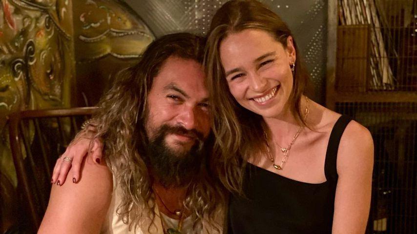 Jason Momoa und Emilia Clarke im August 2021