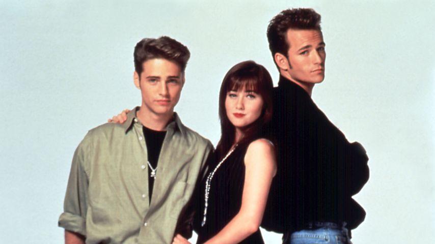 """Jason Priestley, Shannen Doherty und Luke Perry in """"Beverly Hills, 90210"""""""