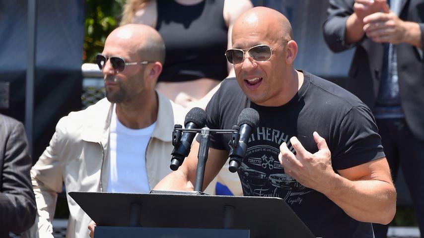 """Jason Statham und Vin Diesel bei einem """"Fast & Furious""""-Event"""