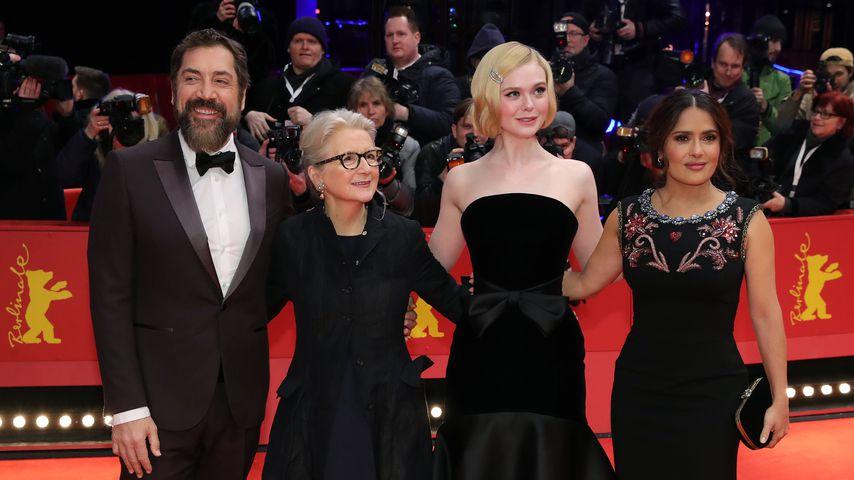 Javier Bardem, Sally Porter, Elle Fanning und Salma Hayek auf der Berlinale 2020