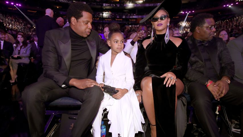 Jay-Z, Blue Ivy Carter und Beyoncé bei den Grammy Awards 2018