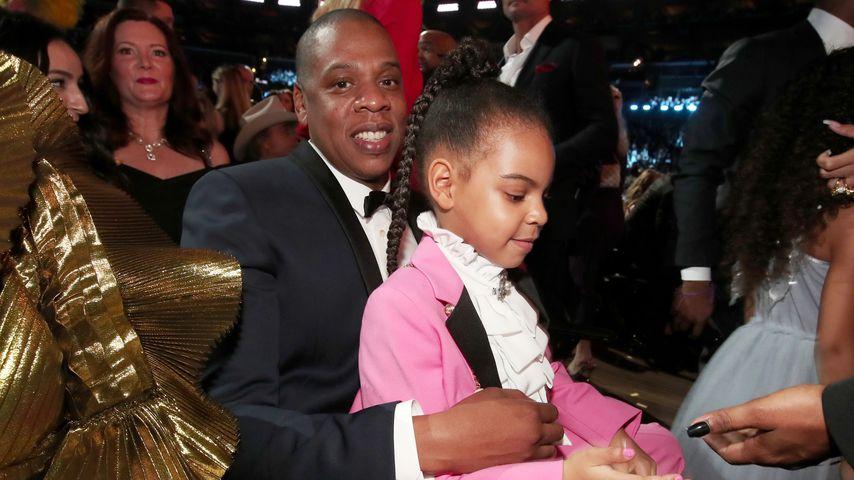 Jay-Z mit Töchterchen Blue Ivy bei der Grammy-Verleihung 2017