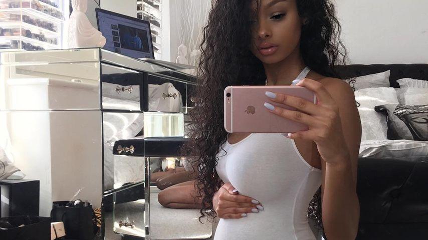 Jayde Pierce mit Schwangerschaftsbauch