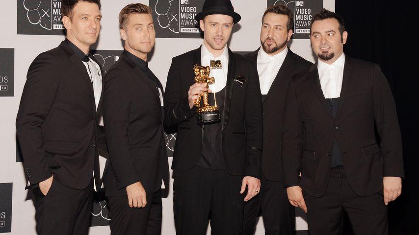 JC Chasez, Lance Bass, Justin Timberlake, Joey Fatone und Chris Kirkpatrick im Jahr 2013