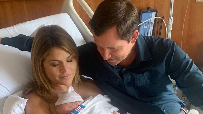 """Jenna Bush Hager, ihr Mann Henry und ihr neugeborener Sohn Henry Harold """"Hal"""" im August 2019"""