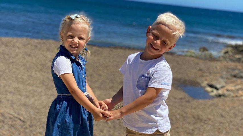 Jenna und Diego, die Kinder von Danni und Jens Büchner