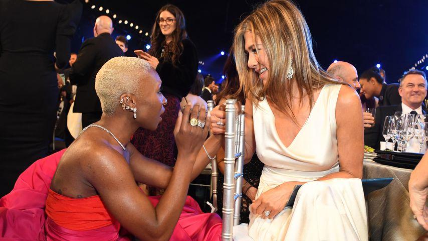 Jennifer Aniston und Cynthia Erivo bei den Screen Actors Guild Awards im Januar 2020