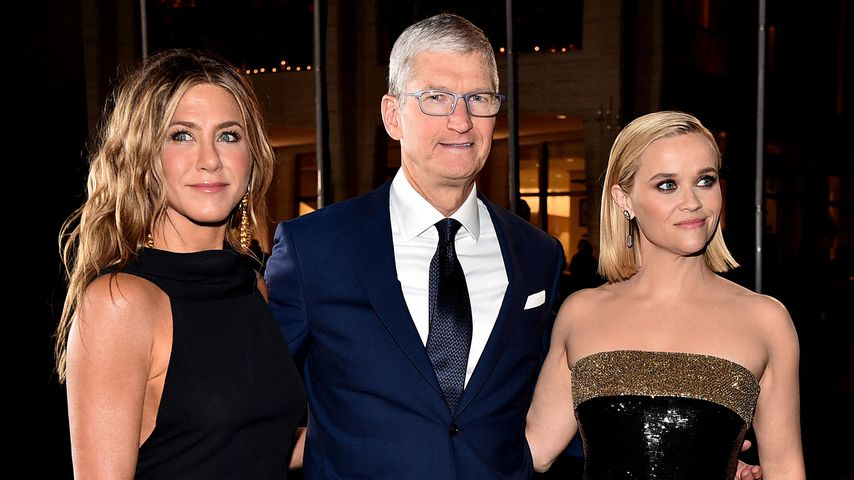 Jennifer Aniston, Tim Cook und Reese Witherspoon im Oktober 2019 in New York