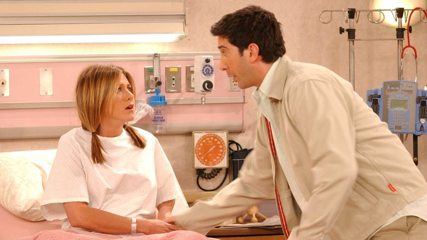 """Jennifer Aniston und David Schwimmer in """"Friends"""", 2002"""
