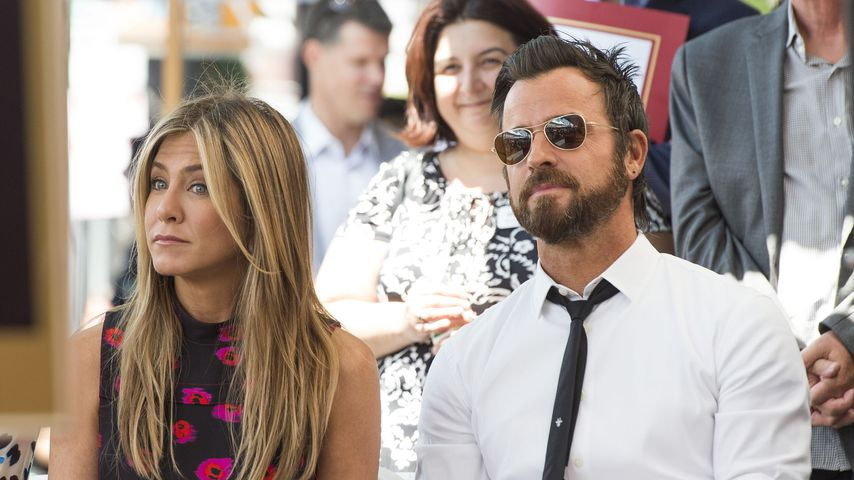 Jennifer Aniston und Justin Theroux beim Walk of Fame in Hollywood