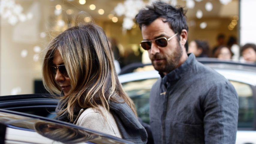 Jennifer Aniston und Justin Theroux in Paris