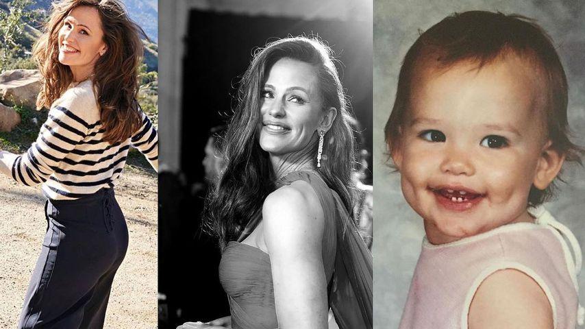 Collage: Throwback-Bilder von Jennifer Garner