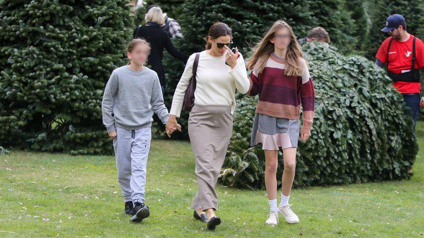 Jennifer Garner mit ihren Töchtern Seraphina und Violet in Los Angeles