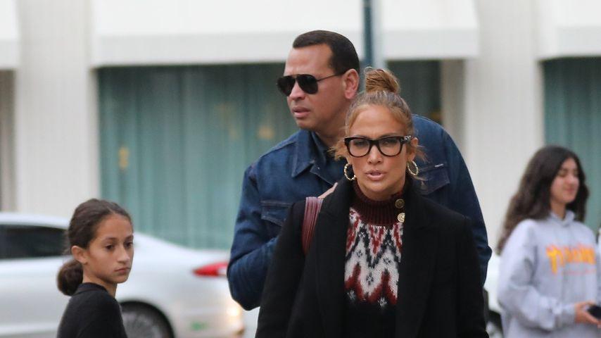 Jennifer Lopez, ihre Tochter Emme und ihr Verlobter Alex Rodriguez