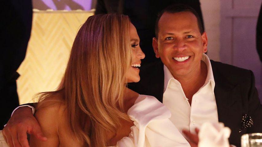 Im Braut-Look: Jennifer Lopez & A-Rod feiern Verlobungsparty