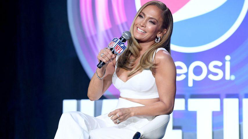 Jennifer Lopez bei einer Pressekonferenz in Miami im Januar 2020