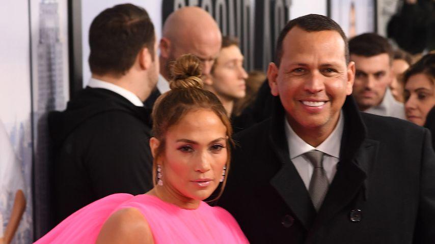 """Jennifer Lopez und Alex Rodriguez auf der Weltpremiere von """"Second Act"""" 2018"""