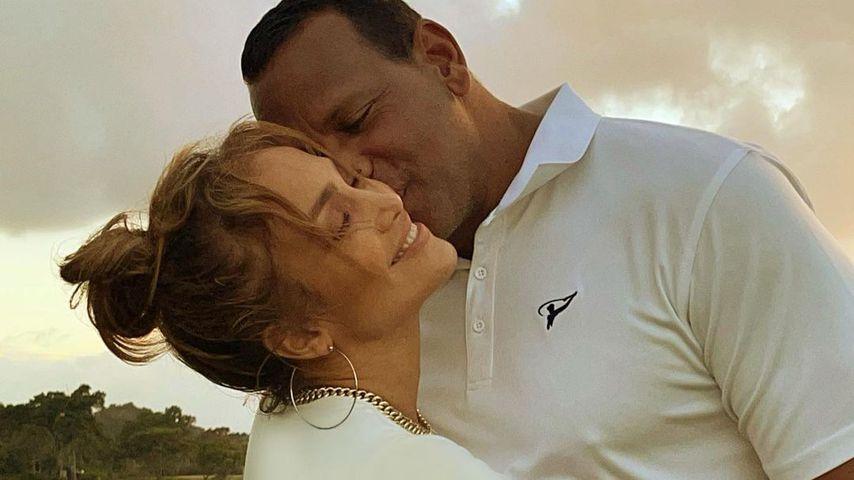 Jennifer Lopez und Alex Rodriguez im Februar 2021