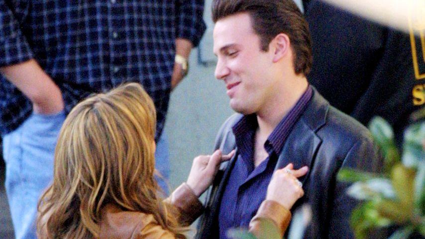 """Jennifer Lopez und Ben Affleck am Set von """"Gigli"""""""
