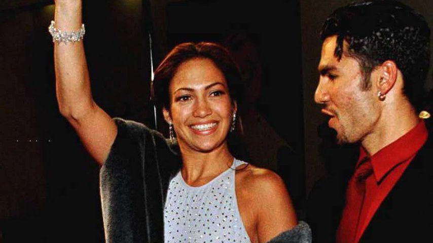 Jennifer Lopez und ihr erster Ehemann Ojani Noa, 1995