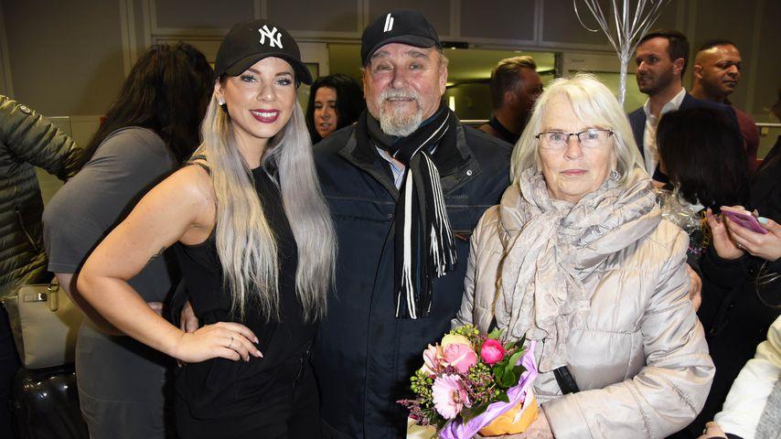 Party! Hier feiert Jenny Frankhauser mit ihren Großeltern