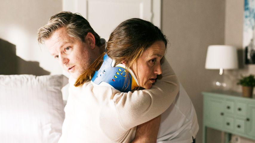 """Jenny (Kaja Schmidt-Tychsen) und Ingo (André Dietz) in einer Szene bei """"Alles was zählt"""""""