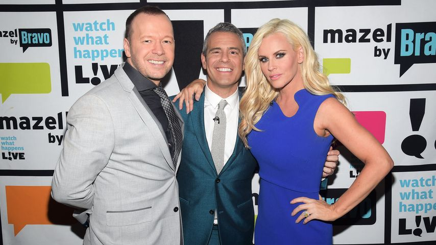 Jenny McCarthy, Donnie Wahlberg und Andy Cohen